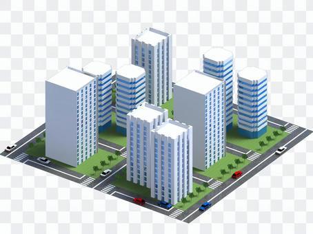 Skyscraper block