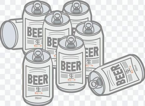A large amount of canned beer