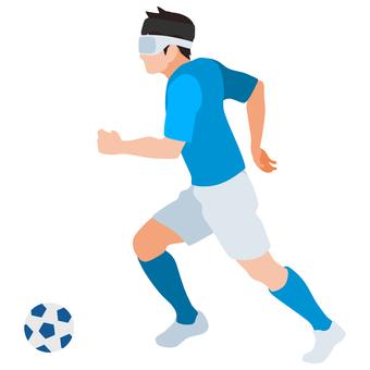 剪影盲人足球運球