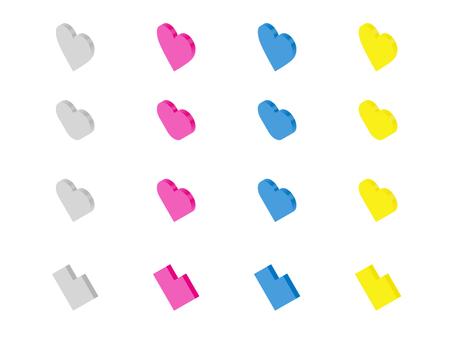 心形圖標(左等距)