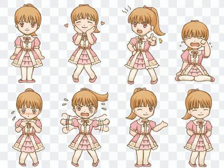 甜甜的洛麗塔女孩迷你角色