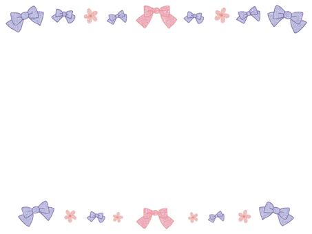 絲帶和花框