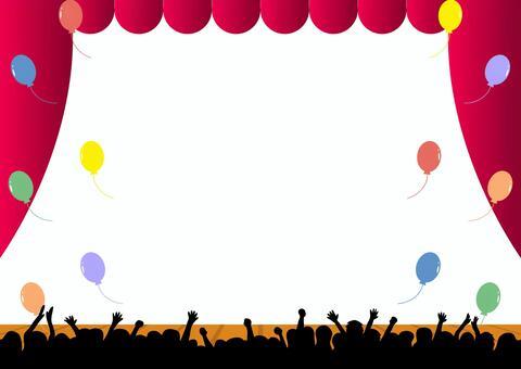 観客 バルーン 舞台 ステージ