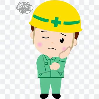 Construction worker (worrying)