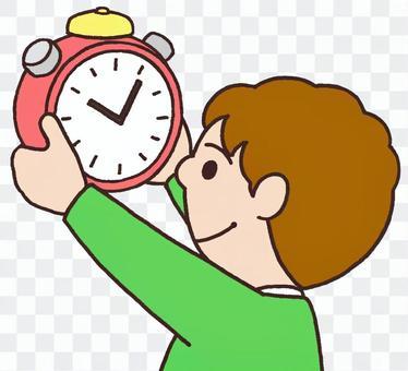 Self-managed with alarm clock