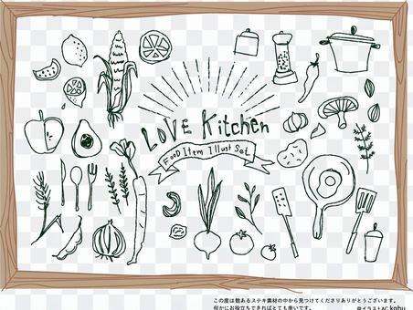 咖啡館和廚房的粉筆藝術