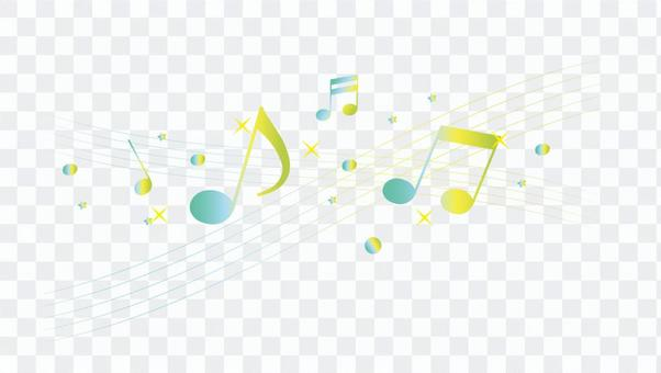 A flowing note