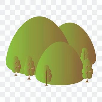 綠葉開始變紅的森林