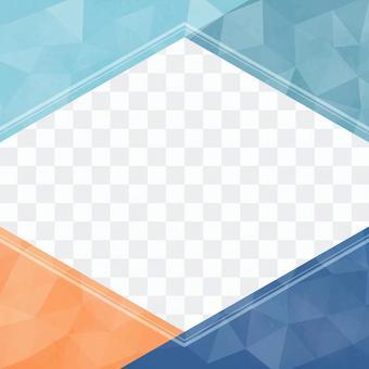六角形のポップなフレーム01