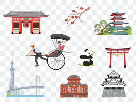 日本旅遊圖標