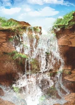 無名的瀑布