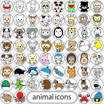 60動物圖標集01