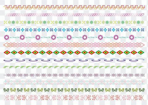 24-line decorative ruled set 5 color B
