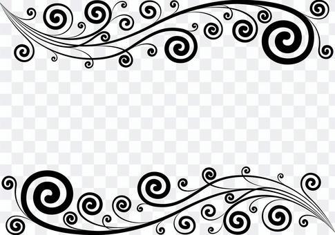 クラシカルな蔦のフレーム シルエット
