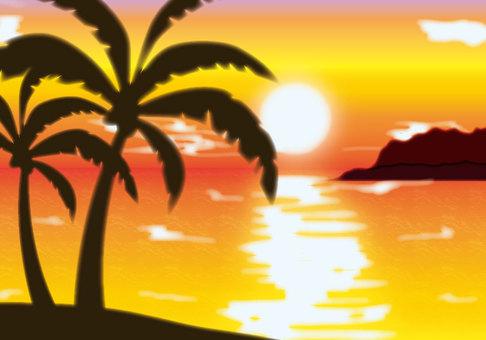 熱帶日落背景1