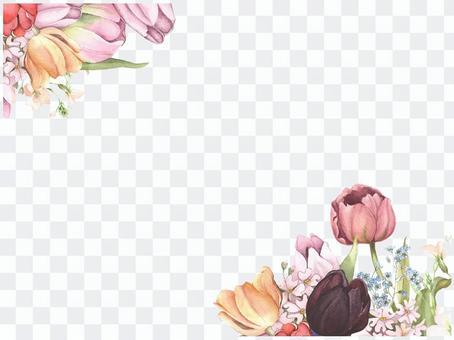 Letter background 7 - tulip