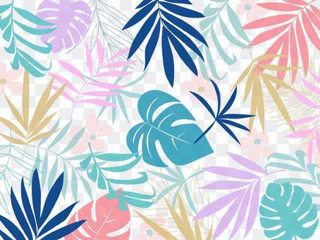 Tropical plant pattern