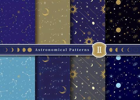 月と星・天体パターンセット2