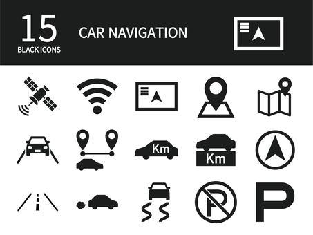 汽車導航圖標