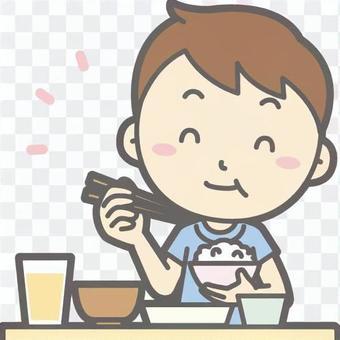男孩短袖A美味日本半身像