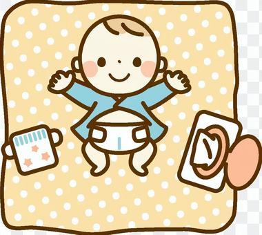 寶寶的尿布改變了
