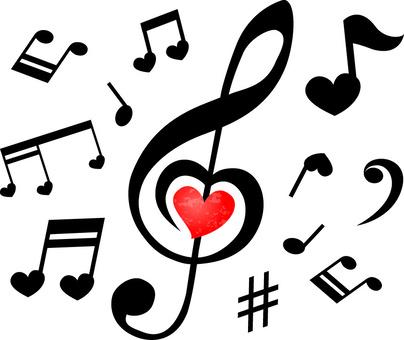 Heart's music symbol