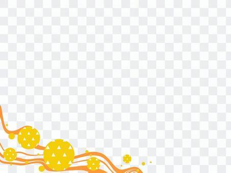 日本花紋框架_流線和比例花紋_LW