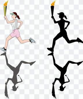 火炬火炬賽跑者奧運火炬奔跑