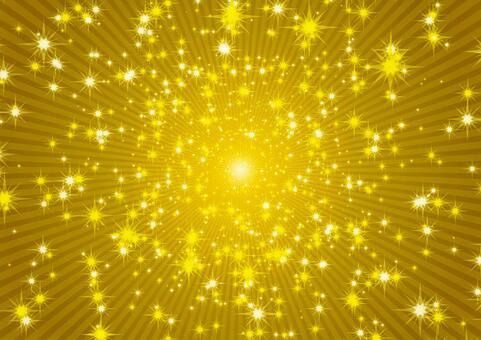 キラキラ輝く金色の光 壁紙