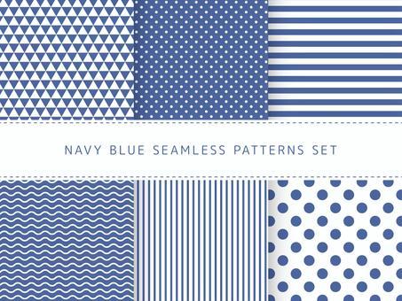 海軍藍色無縫模式集