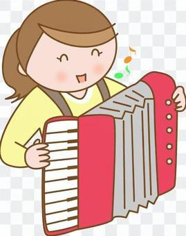 拉手風琴的女孩