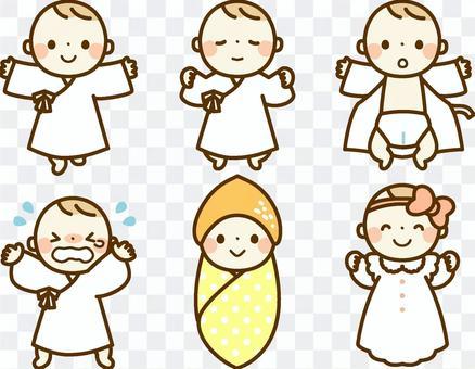 剛出生的嬰兒套裝