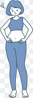 胖乎乎的系統 擔心體重偏低的女性