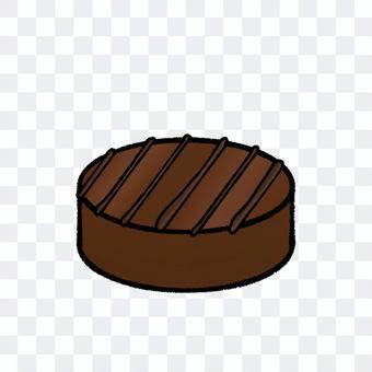 圓形條紋條紋巧克力(輪廓)