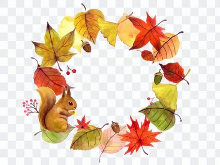 秋天環形框架