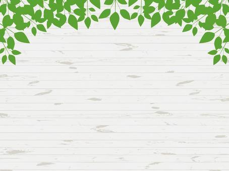 Leaf wood frame