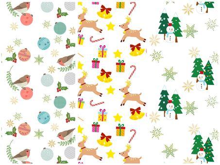 Christmas background swatch set