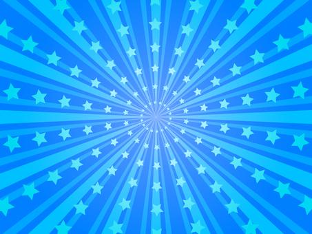星星的輻射背景(藍色)