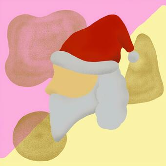 聖誕聖誕老人臉藝術1