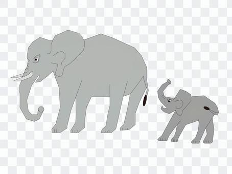 大象父母和孩子