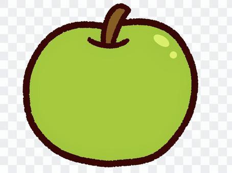 かわいい秋の果物 梨