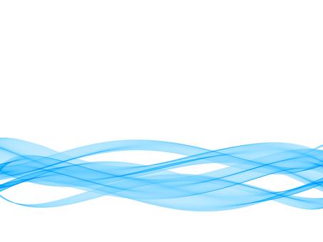 Blue wave background footer transparent