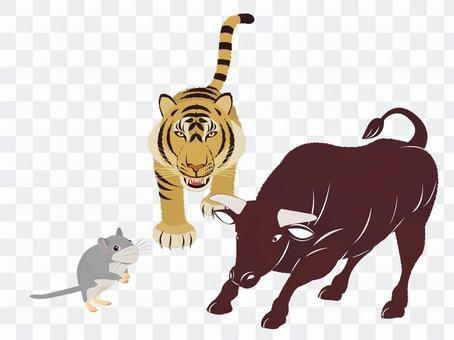 干支 牛 ねずみ トラ