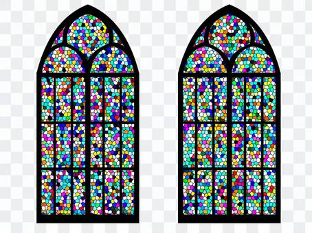 彩繪玻璃(帶窗戶)