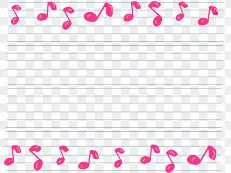 Sheet music message card pink