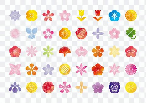 Flower watercolor icon