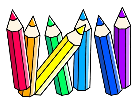 Rainbow colored pencils (7 colors)
