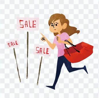 Running shopping women