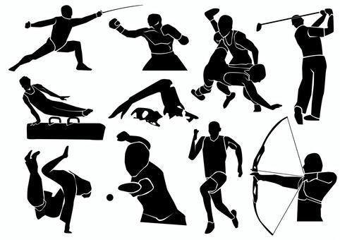 奧運選手剪影