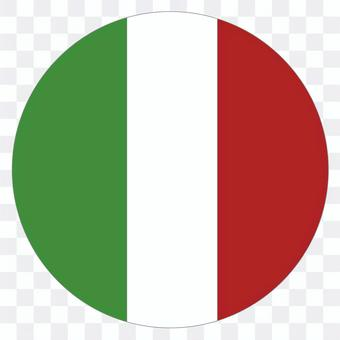 Italian flag (circle)